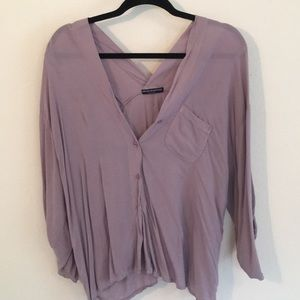 Brandy Melville purple top one size